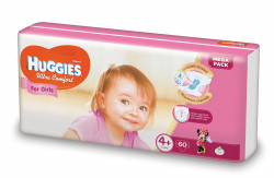 Scutece Huggies Ultra Confort Mega Pack 4+, Fete, 10-16 kg, 60 buc