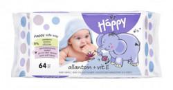 Servetele umede Happy cu Alantoina si vitamina E, 64buc