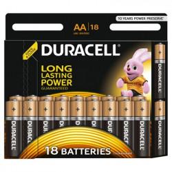 Set 18 baterii Duracell Basic, AA