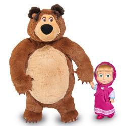 Set Masha and The Bear papusa Masha 12 cm si ursulet de plus 25 cm