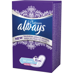 Absorbante Always Platinum Liners Deo, 50 buc