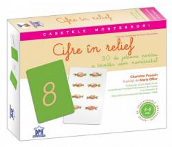 Casetele Montessori - Cifre in relief - jetoane + ghid de utilizare