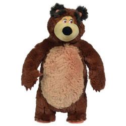 Jucarie de plus Masha and the Bear, Bean Bag Bear 40 cm