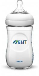 Philips-Avent Biberon Natural 260 ml, Tetină ce imita forma sanului mamei, cu debit lent