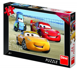 Puzzle - Cars 3 la mare - 24 piese