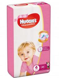 Scutece Huggies Ultra Confort Mega Pack 4, Fete, 8-14 kg, 66 buc