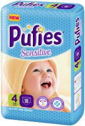 Scutece Pufies Sensitive, Nr. 4 Maxi, Small Pack 18 buc