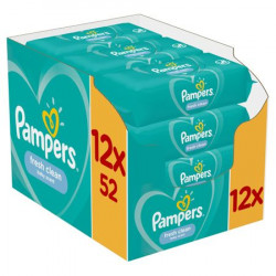 Servetele umede Pampers Fresh Clean, (12x52), 624 buc