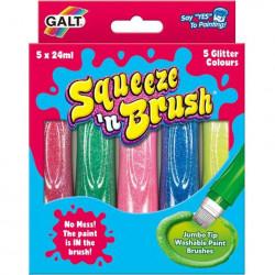 Galt Squeeze'n Brush - 5 culori cu sclipici