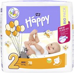Happy Mini 2 Big Pack, 3-6 kg, 78 buc