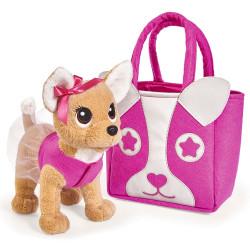 Jucarie de plus Catel Chi Chi Love Puppy 20 cm cu geanta