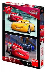 Puzzle 2 in 1 - Cars 3: Cursa cea mare - 77 piese