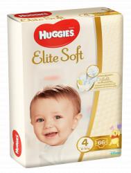 Scutece Huggies Mega Pack Elite Soft Nr.4, 8-14 kg, 66 buc