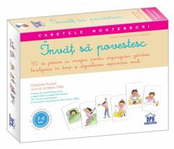 Casetele Montessori - Invat sa povestesc - caseta cu un gihid de 32 de pagini si 90 de jetoane pentru relatat povesti