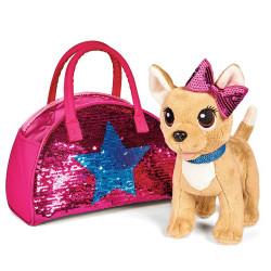 Jucarie de plus Catel Chi Chi Love Swap fashion 20 cm cu geanta