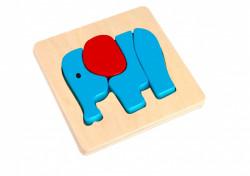 Mini Puzzle lemn, Elefant