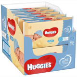 Pachet 10 x Servetele Umede HUGGIES Pure, 56 buc (560 buc)