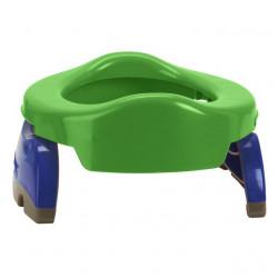 Pachet economic Potette Plus verde: olita portabila + liner reutilizabil + 10 pungi biodegradabile