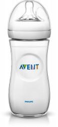 Philips-Avent Biberon Natural 330 ml, Tetină ce imita forma sanului mamei, cu debit variabil