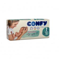 Scutece Confy Premium, Nr.1, Nou-nascuti, 2-4 kg, 44 Buc