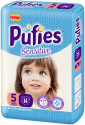 Scutece Pufies Sensitive, Nr. 5 Junior, Small Pack 14 buc