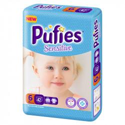 Scutece Pufies Sensitive Nr.6, 42 buc
