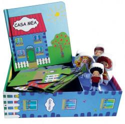 Casa mea - set cu puzzle, carte, figurine
