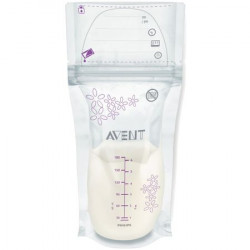 Philips-Avent Pungi de pastrare a laptelui matern, 25 buc