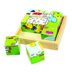 Puzzle cubic - animale domestice