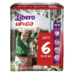Scutece-chilotel Libero UP&GO, Nr.6, XL, 13-20kg, 20 buc