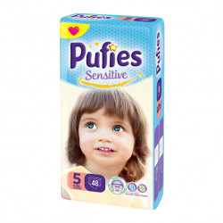 Scutece Pufies Sensitive Nr.5, 48 buc