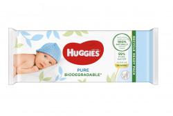 Servetele umede Huggies Pure Biodegradable, 56 buc