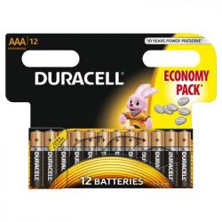 Set 12 baterii Duracell Basic, AAA