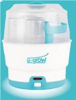 Sterilizator 6 biberoane, 8 minute, auto power off, protectie dubla, cleste pentru biberoane inclus, usor de curatat, 500W