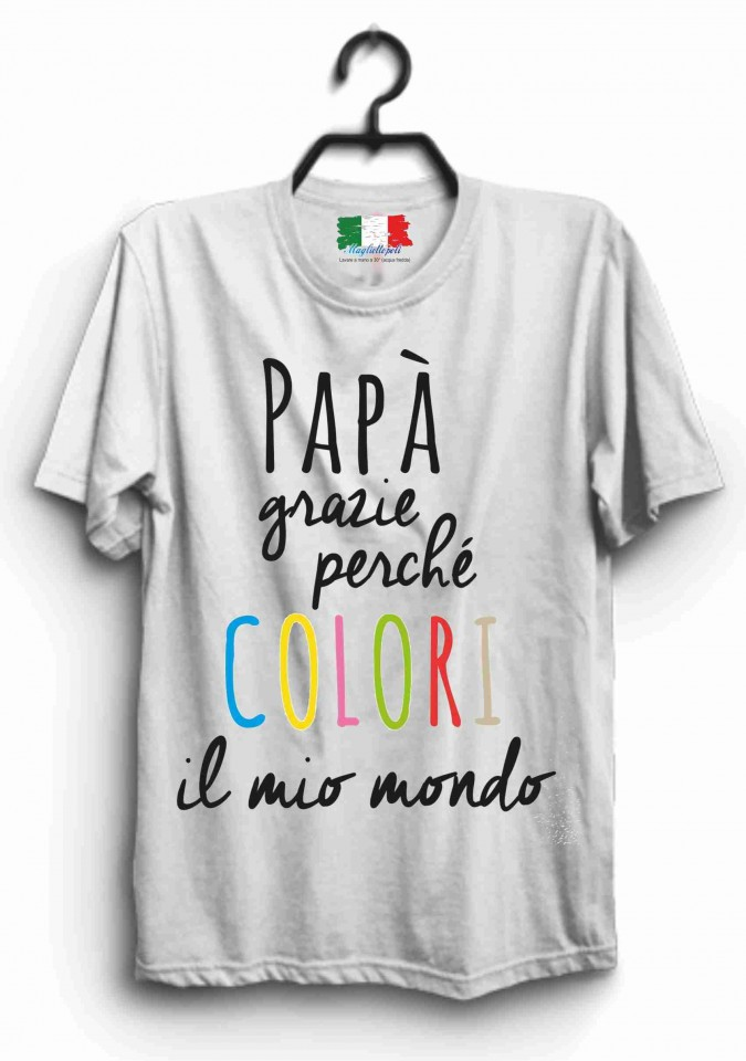 In 100Cotone Festa Del Papa' TitoloColori Maglietta Per La PZXiuOk
