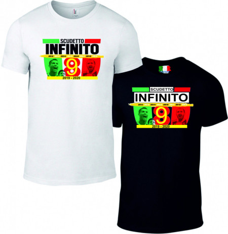 Maglietta bianca e nera da uomo e da donna Campioni di Italia immagini