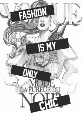 MAGLIETTA IN 100% COTONE DA DONNA TITOLO FASHION IS MY immagini
