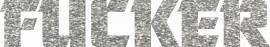 MAGLIETTA NERA 100% COTONE  STAMPA GLITTERATO : FUKER immagini