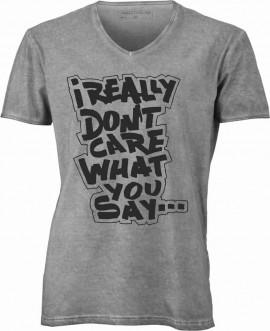 T-shirt con scollo a v, 100% cotone single jersey con stampa изображений