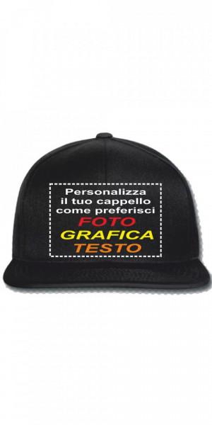 Cappellino Rapper Personalizzabile, Taglia Unica, Regolabile