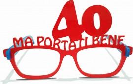 MAGLIETTA IN 100% COTONE UOMO/DONNA PER 40 ANNI TITOLO: OCCHIALI immagini