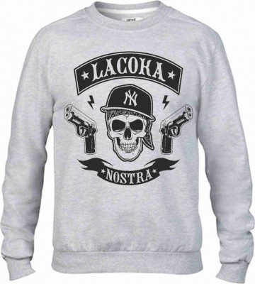 Felpa vestibilita' larga girocollo Fashion STAMPA Street Wear изображений