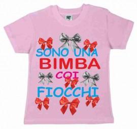 MAGLIETTA 100% COTONE BIMBO/A  TITOLO SONO UNA BIMBA COI FIOCCHI images