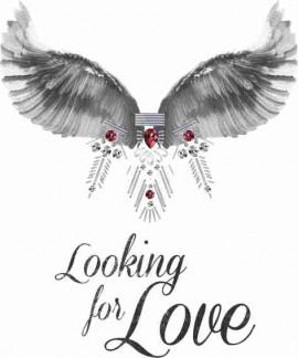 MAGLIETTA IN 100% COTONE DA DONNA TITOLO LOOKING FOR LOVE immagini