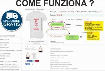 T-shirt unisex Poly-Cotton EFFETTO MARMO CON STAMPA PERSONALIZZATA immagini