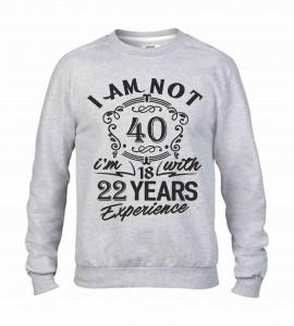 Felpa girocollo Fashion da uomo personalizzata con il tuo anno/mese di nascita immagini