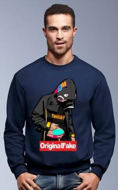Felpa girocollo Fashion ORIGINALFAKE imágenes