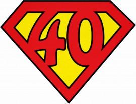 MAGLIETTA IN 100% COTONE UOMO/DONNA PER 40 ANNI TITOLO: SUPER 40 immagini