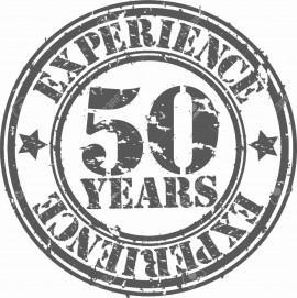 MAGLIETTA IN 100% COTONE UOMO/DONNA PER 50 ANNI TITOLO: EXPERIENCE immagini