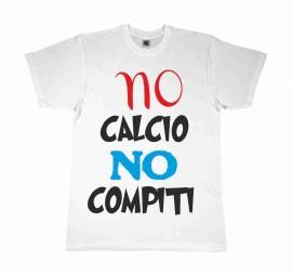 MAGLIETTA 100% COTONE BIMBO/A TITOLO NO CALCIO NO COMPITI immagini